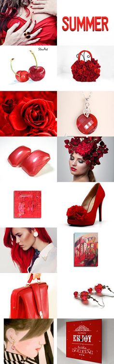 Red hot summer! by Ilona Rudolph on Etsy--Pinned with TreasuryPin.com