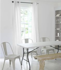 A dining area with just the basics is full of potential.