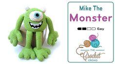 Crochet Free Pattern, Mike the Monster, amigurumi, stuffed toy, #haken, gratis patroon (Engels), knuffel, speelgoed, #haakpatroon