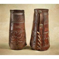 R T Frazier, Pubelo, Colorado Leather Cowboy Cuffs, early 1900's