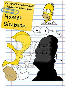 Home Simpson molde Homer Simpson, Felt Diy, Felt Crafts, Sewing Toys, Sewing Crafts, Simpsons Party, Character Template, Felt Sheets, Silhouette Images