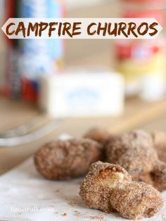 Campfire churros, a non fried version of the cinnamon sugar treat you can make while you are camping #churro #camping (lizoncall.com)