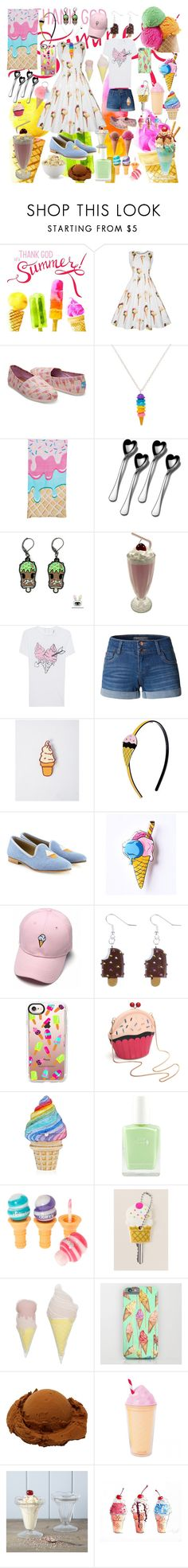 """For the love of ice cream!"" by fandom-girl365790 ❤ liked on Polyvore featuring TOMS, Towle, Zoe Karssen, LE3NO, Ana Accessories, Del Toro, Casetify, Natural Life, Bloomingville and Rigby & Mac"
