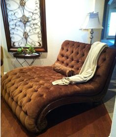 Look at this Garage Sale find!  Guess how much I paid for this Double Chaise Lounge...