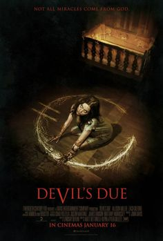 """We don't think that the sign for """"male"""" or """"female"""" . """"Demon"""" perhaps? Sign For Male, Newest Horror Movies, Horror Films, Devil's Due, Geek Movies, Mysterious Universe, Movies 2014, Film Review, Live Wallpapers"""