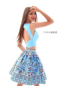 47ef58e1516 Prom 18   50292 - Short floral skirt with halter neck top