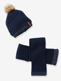 Set aus Mütze und Schal für Baby Mädchen MARINE+ROSENHOLZ