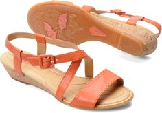 Born Womens Yelena in Orange Lambskin