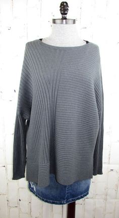 51458f3ce5f Details about Eileen Fisher XL thick 100% Cashmere Italian Ribbed Sweater  (fits 1x 2x ) 55