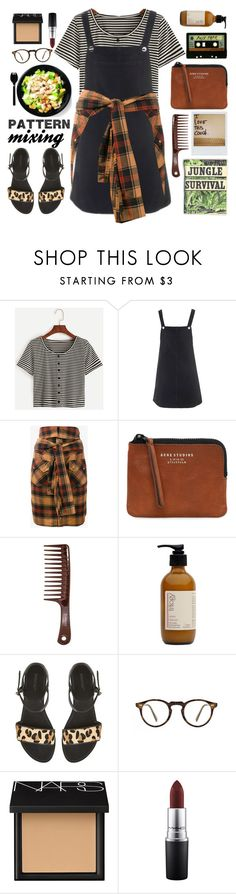 """""""Pattern Mixing: From Head to Toe"""" by anilovic ❤ liked on Polyvore featuring Topshop, Faith Connexion, Acne Studios, Trilogy, Polaroid, Oliver Peoples, NARS Cosmetics, MAC Cosmetics and patternmixing"""