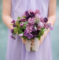 chic lilac bouquet inspired by grapes