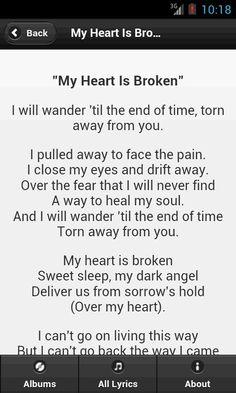 evanescence lyrics - Google Search