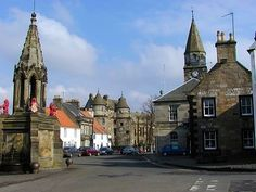 Falkland in Fife, looking down the main street to the Palace. Part of my family came from here and nearby, going back generations.