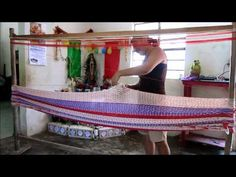 "Step-by-step instructions for making a loom and weaving a mayan hammock, including the edge ""crochet"", the interior triple weave, and the clew. Still photos ..."