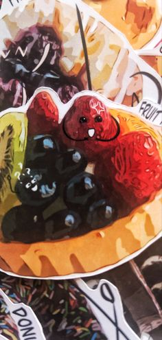 I cant even handle the cuteness from this little tart Cheap Iphones, Mystery Bag, Sunflower Design, Macbook Decal, Fruit Tart, My Journal, Plant Decor, Pretty Flowers, Sticker Design
