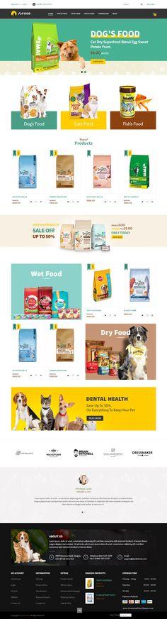 Fobe Modern and Clean Multipurpose Responsive Magento Theme Download #pets #petshop #petstore #petfood #website