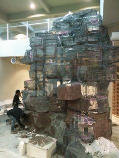 Artificial Rocks, Fake Rock, Concrete Sculpture, Paludarium, Rock Wall, Rock Design, Good House, Landscaping With Rocks, Stone Art