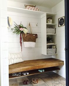 Yay! The day has arrived!! Our mudroom reveal! Head over to @inthenewhouse to read all about it! Link in profile . #shiplap #myfarmhousefacelift #imaremodelaholic