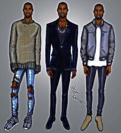 Kanye West x3 by Hayden Williams