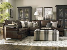 Large L-Shaped Sectional by Bassett Furniture