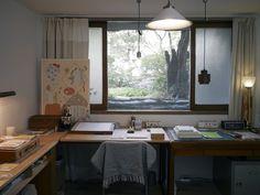 그림책 작업실 인테리어 일기 _ 연남동 작업실 : 네이버 블로그 Workspace Design, Home Office Design, House Design, Cafe Interior, Interior Design, Study Rooms, Pretty Room, Inspired Homes, House Rooms