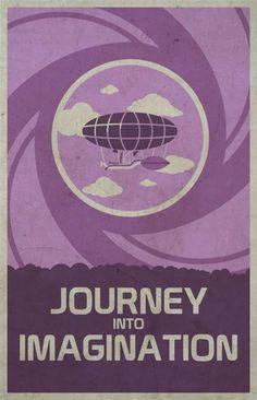 Journey Into Imagination - Walt Disney's EPCOT retro poster (1983)