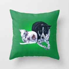 Kay and her little lamb Throw Pillows by gretzky - three sizes $20-30