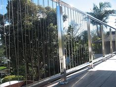 Stainless steel balustrades | Stainless Works | Auckland Stainless Steel Balustrade, Steel Handrail, Fancy Fence, Cable Railing, Balcony Railing, Modern Fence, Banisters, Decks And Porches, River House