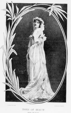 Gladys Deacon, her beauty celebrated, in a photograph by Lafayett. At 22 she had wax injections in an early cosmetic surgery attempt, which had a detrimental affect on her famous good looks.