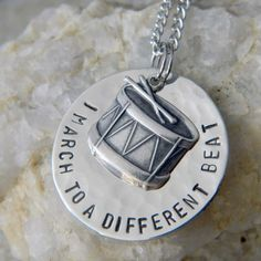 I March to a Different Beat with Drum Necklace by WireNWhimsy on Etsy