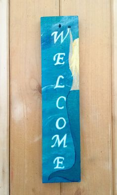 Mermaid Welcome Sign Indoor/Outdoor sign Pallet by SunStroked
