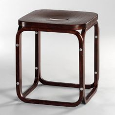 Otto Wagner, Post Office Savings Bank Stool, 1905 - Produced by Thonet Modern Furniture, Furniture Design, Furniture Storage, Pair Of Bedside Tables, Otto Wagner, Ottoman, Bent Wood, Wood Laminate, Art Decor