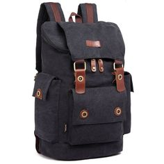 Wow! Retro Men's Canvas Splicing Leather Belts School Laptop Backpack Large Capacity Outdoor Travel Rucksack only $43.99 from Atwish.com! I like it so much!!