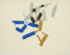 Charlotte Posenenske: Untitled c 1962 acrylic on paper 24 3/4 x 19 inches