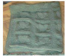 Cozy Heart Baby Blanket | AllFreeKnitting.com