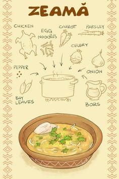 Zeama Romania Food, Baby Lernen, Comidas Fitness, Soup Recipes, Cooking Recipes, Lebanese Recipes, Russian Recipes, Romanian Recipes, Moldova