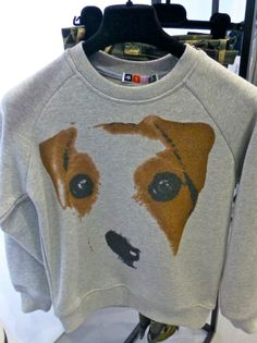 Cute boys puppy face sweatshirt from MSGN for fall/winter 2014