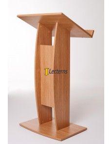 Arc Lectern design in oak finish