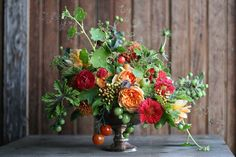 Flowers and Fruit and Vegetables. by Erin Benzakein / Floret Flower Farm, via Flickr