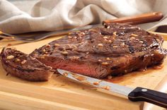 Steak House Grilled Sirloin-1/3cup A1 Roasted Garlic Steak Sauce or Original steak sauce,1/4 cup finely chopped onions,3/4 tsp. hot pepper sauce,1 boneless beef sirloin steak (1-1/2 lb.), 3/4 inch thick.MIX first 3 ingredients. GRILL steak 8 min. or until medium doneness,turning and brushing occasionally with steak sauce mixture. CUT steak diagonally across the grain into thin slices.You can use the Steak sauce mixture as a marinate for a few hours or overnight.