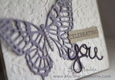 Butterfly Thinlits from the Occasions Catalogue 2015.  www.madexcreations.com  #stampinup