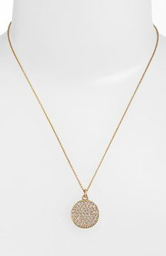 kate spade new york 'idiom - all that glitters' boxed pavé pendant necklace available at #Nordstrom