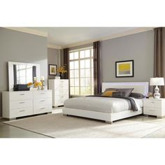 Coaster Furniture Felicity Platform Bed with Lights, Size: California King - 203500KW