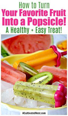 Home Made Popsicles Healthy, Homemade Fruit Popsicles, Healthy Popsicle Recipes, Healthy Summer Recipes, Blueberry Popsicles, Snacks Recipes, Potato Recipes, Dessert Recipes, Fruit Ice Pops