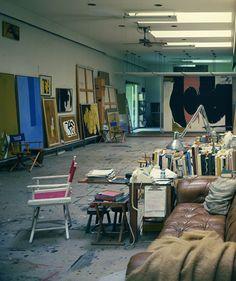 Helen Frankenthaler and husband Robert Motherwell's studio and home. Architecural Digest, 1984.