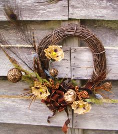 Pretty wreath from All Things Frilly on Etsy
