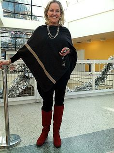 Poncho with leggings and boots