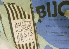 VTG 50s French Arts Ballet Advertising Posters Novelty Circle Skirt Detail #50sSkirt