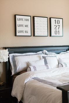 The TomKat Studio: Design-a-Wall with Shutterfly…I love the idea behind this, but I think I'd put it somewhere else in my home other than above the bed.