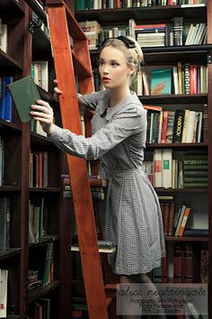 library fashion shoot
